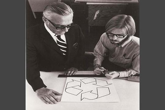 การสร้างสัญลักษณ์รีไซเคิล ปี 1970